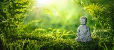 Tapeta Buddha statu w naturalnym tle