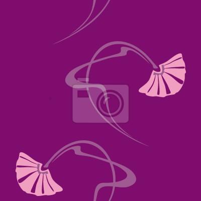 Tapeta burleska purpurowa
