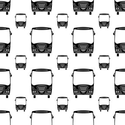 Tapeta Bus Icon Seamless Pattern, Bus
