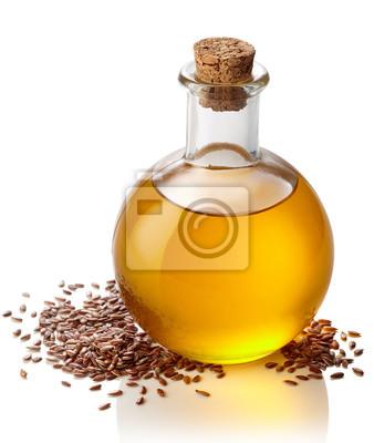 Butelka oleju lnianego