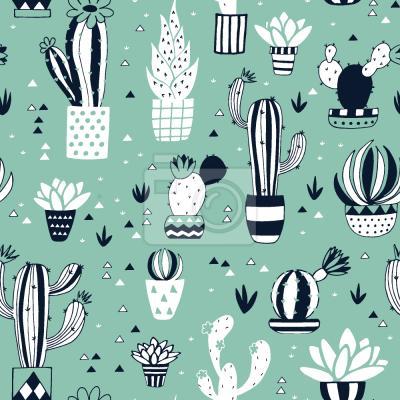 Tapeta Cactus W Puli