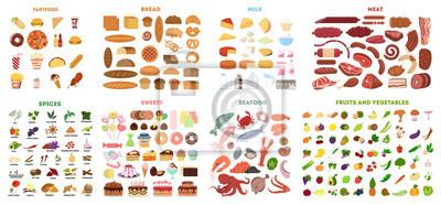 Tapeta Cały zestaw żywności.