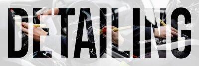 Tapeta Car detailing collage.
