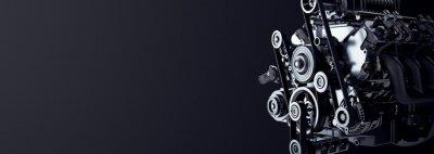 Tapeta Car engine, studio image.