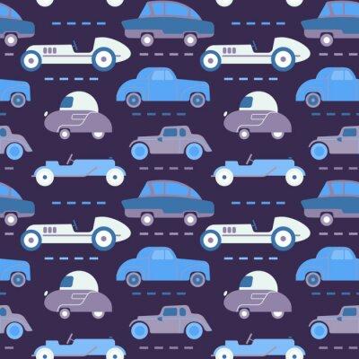Tapeta Car pattern flat illustration seamless design