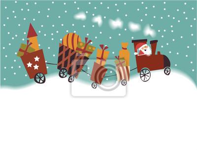 Cartoon Christmas pociąg