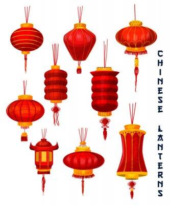 Tapeta Chiński Nowy rok czerwone latarnie papieru