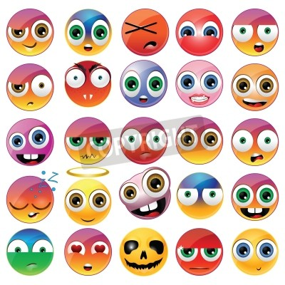 Tapeta Collection of different emoji faces
