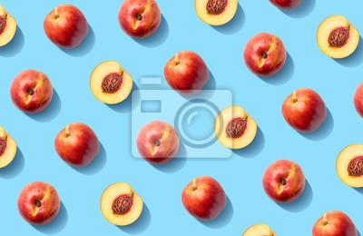 Colorful fruit pattern of fresh nectarines
