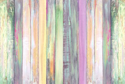 Tapeta colorful multi painted color wood wall texture background, Christmas tone color background