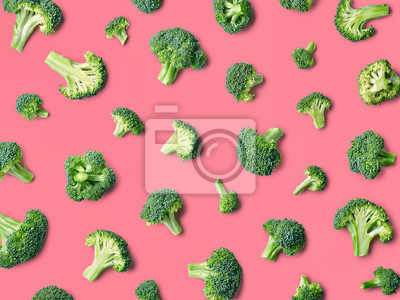 Colorful pattern of fresh broccoli