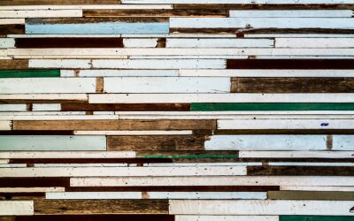 Tapeta Colorful striped pattern wood texture