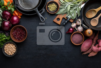 Tapeta Culinary background with copy space for a text