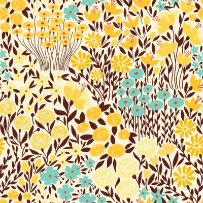 Tapeta Cute seamless floral pattern with small flower