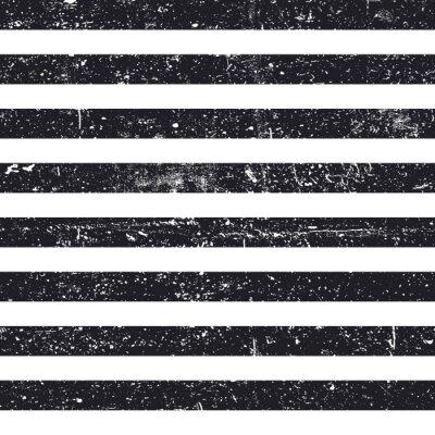Tapeta Czarne teksturowane linie bezszwowe wzór. Stripes zabytkowe deseń. Abstrakcyjne tło retro