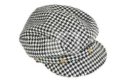 ebd4f6dbc Tapeta czarno-biały czapka z daszkiem • czarny, nowoczesny, kostium ...