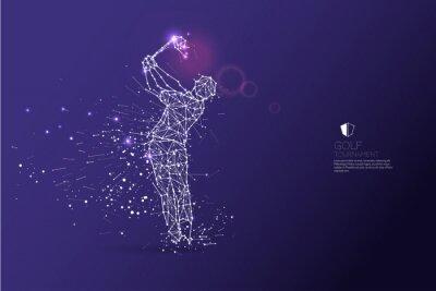 Tapeta Cząstki, sztuka geometryczna, linia i kropka działania gracza golfa
