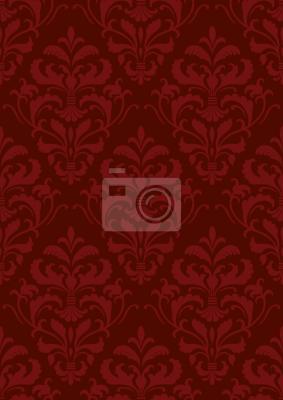 Tapeta Czerwony barok francuski