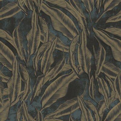 Tapeta Dark wallpaper, dry leaves falling to the ground