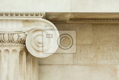Tapeta Decorative detail of an ancient Ionic column
