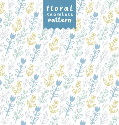 Tapeta Delikatne kwiaty polne szwu
