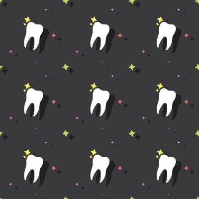 Tapeta Dentysta molarny ząb Bezszwowy Barwiony Deseniowy tło