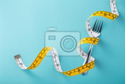 Tapeta Diet concept on blue background