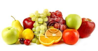 Tapeta Dojrzałe owoce na białym tle