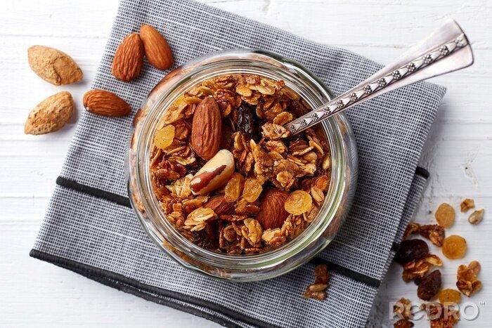 Tapeta Domowa granola z nasion i orzechów