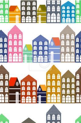Tapeta domy Amsterdamu