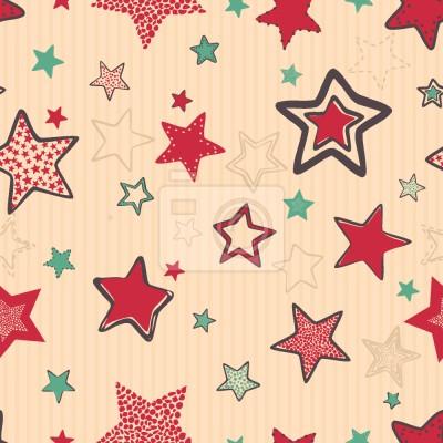 Tapeta Doodle Boże Narodzenie Gwiazdy