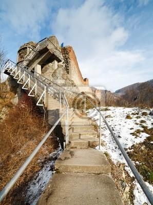 Tapeta Draculi twierdza w Poienari, Rumunia