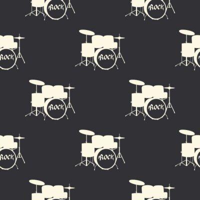 Tapeta Drums pattern, music illustration