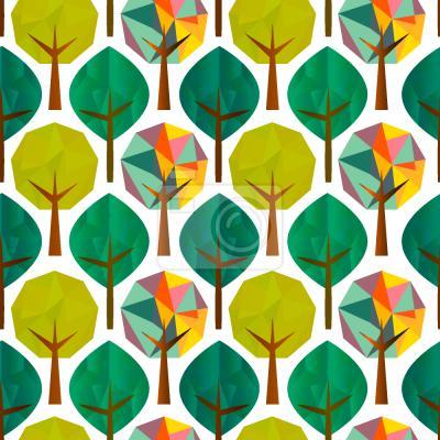 Tapeta Drzewa geometryczna