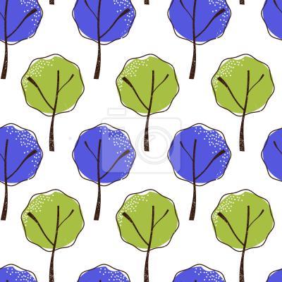 Tapeta Drzewa Małych Liści