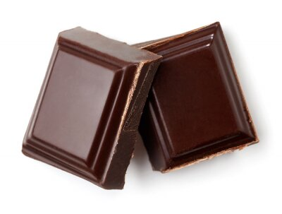 Dwa kawałki ciemnej czekolady