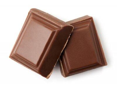 Dwa kawałki mlecznej czekolady