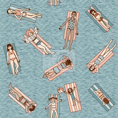Tapeta Dziewczyny na basenie