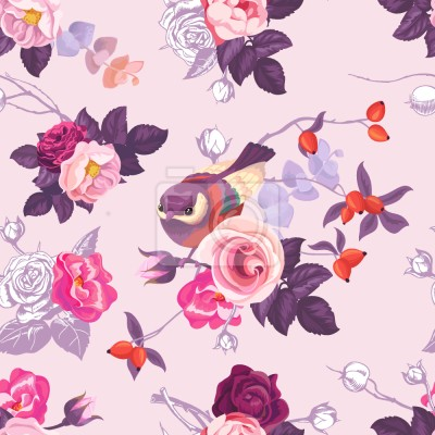 Dzikie Róże I Słodkie Ptaki