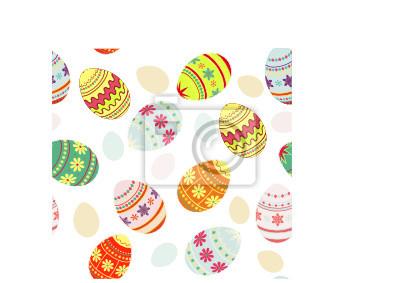 Easter eggs bezszwowe tło