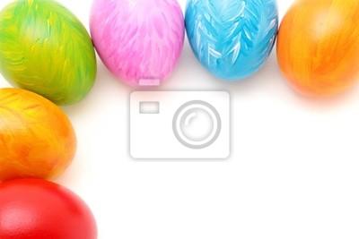 Easter eggs ramki na białym tle