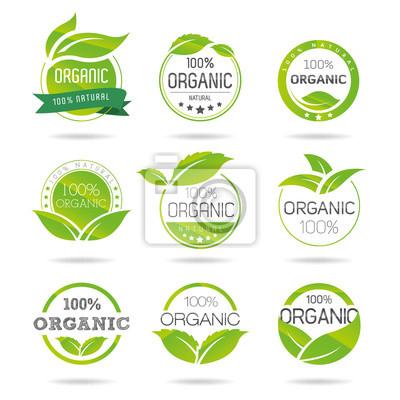 Tapeta Ekologia, ekologiczny zestaw ikon. Eco-icons
