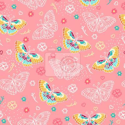 Tapeta Eleganckie Motyle