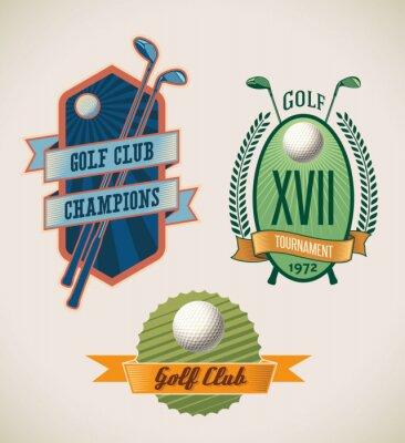 Tapeta Etykiety golfowe