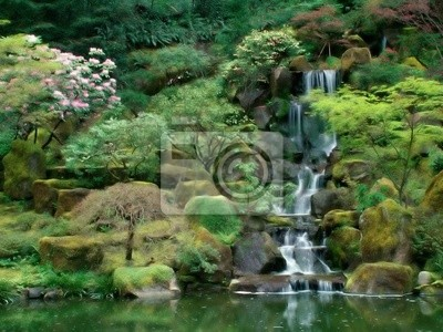 Tapeta fantazja ogród japoński