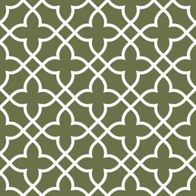 Tapeta Figured bez szwu wzorzec kraty - ornament arabeski