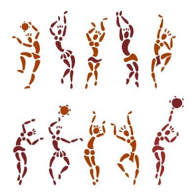 Tapeta Figury afrykańskich tancerzy.