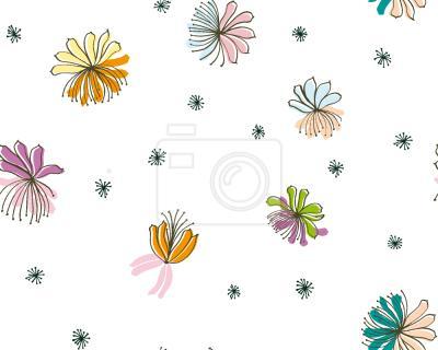 Tapeta Filigranowe Kwiaty
