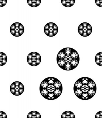 Tapeta Film Reel Icon, Cinema Movie Reel Icon Seamless Pattern