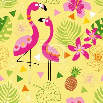Tapeta Flamingo Raj
